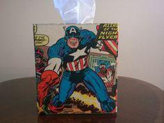 Captain America superhero comic book decoupage by PastePotPrefects