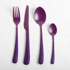 Gibson Flatware 16Pc Set Purple, $32, now featured on Fab. Jennie. You needs these!