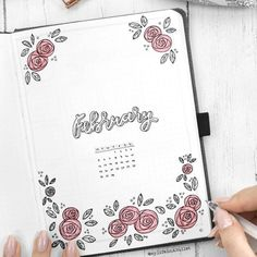 Rosy theme by @my.life.in.a.bullet ... #bujo #bulletjournaljunkies #bulletjournal #bulletjournalss #amandarschdoodles #bujocommunity #bulletjournaling #planwithme #planwithmechallenge #bulletjournallove #bulletjournalart #bulletjournallove #instaart #fashiondesign #painting #drawing #sketch #doodles #fashionstudent #bujo2018 #bulletjournal2018 #bujoart #rose