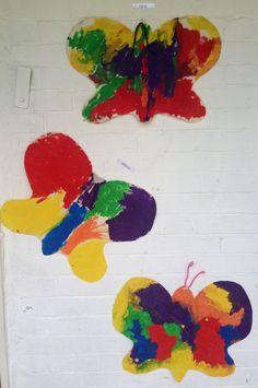 Paper painted butterflies Insect Crafts, Preschool Art Activities, Butterflies, Paper, Painting, Bug Crafts, Painting Art, Butterfly, Bow Ties