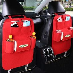 Auto Car Back Seat Storage Organizer Trash Net Holder Multi-Pocket Travel Storage Bag Hanger for Auto Capacity Storage Pouch Seat Storage, Hanging Storage, Storage Organization, Storage Boxes, Storage Ideas, Interior Accessories, Car Accessories, Backseat Car Organizer, Bag Hanger