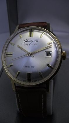 GUB - GLASHÜTTE - SPEZIMATIC - AUTOMAT - Made in GDR - men s wristwatch  vintage - 1960 s - 26 Jewels - unique collectible status. Egyedi 4e5c81d02e