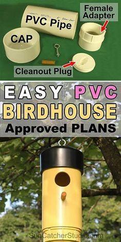 Homemade Bird Houses, Bird Houses Diy, Bird House Feeder, Diy Bird Feeder, Pvc Deer Feeder, Bluebird House Plans, Bird House Kits, Greenhouse Plans, Greenhouse Cafe