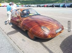 Wooden car spotted in Scotland.