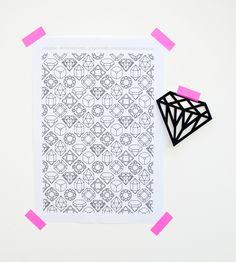 gems & crystals // printable paper