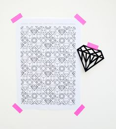 #DIY gems & crystals Free printable paper