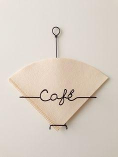 コーヒーフィルターケース ベーシック | ハンドメイドマーケット minne Coffee Filter Holder, Paper Crafts Magazine, Coffee Shop Design, Copper Art, Cafe Style, Art N Craft, Wire Crafts, Wire Art, Handmade Crafts