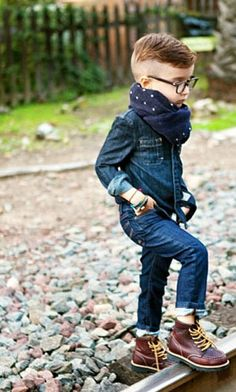 Another of Alonso Mateo, the most fashionable 5 year old on Instagram (2013) | AllSaints shirt, Bonpoint jeans, vintage glasses | Photo by his stylist mom, Luisa Fernanda Espinosa