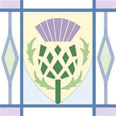 scottish thistle quilt block - Google Search