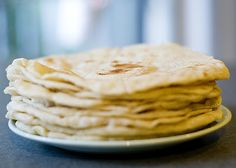 Tortillas without lard recipe. Very easy. I substituted half white flour with whole wheat and it was great!