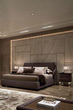 Ceiling Design Living Room, Bedroom False Ceiling Design, Master Bedroom Interior, Bedroom Closet Design, Modern Master Bedroom, Bedroom Furniture Design, Modern Ceiling Design, Bed Headboard Design, Modern Headboard