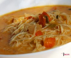 Soupe tom yum Tom Yum Soup, Vegan Soups, Thai Red Curry, Soup Recipes, Spaghetti, Appetizers, Favorite Recipes, Plus Populaire, Cooking