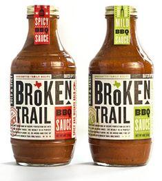 Broken Trail barbecue sauce label
