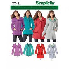 Oberteile & Jacken - we ♥ SIMPLICITY 7745 R5 DAMEN MANTEL JACKE 4 VARIA - ein Designerstück von LalaundFluse bei DaWanda