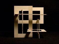 Verl Ancel Adams – Pin to pin Conceptual Model Architecture, Architecture Portfolio, Concept Architecture, Interior Architecture, Folding Architecture, Cube Design, 3d Design, Architectural Sculpture, Geometric Sculpture