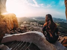 "Photo of the Day: ""Woke up at the crack of dawn to climb the steps of the sacred monkey temple which revealed the rugged landscape in the village of Hampi, India"" - @piratescry • • • #gopro #sunrise #goproIndia @goproin #travel #wanderlust"