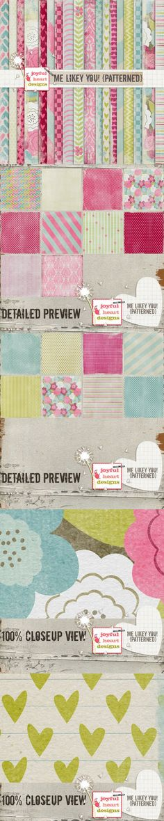 Me Likey You! {patterned} - 20% off!. Patterns