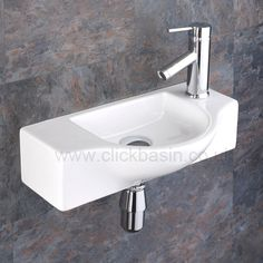 Perfect for the smaller ensuite or cloakroom. The Viterbo Space Saving Ceramic Wash Basin Sink is a solid all round contemporary addition to any room. Cloakroom Sink, Small Bathroom Sinks, Tiny Bathrooms, Tiny House Bathroom, Bathroom Basin, Basin Sink, Bathroom Ideas, Cloakroom Ideas, Small Downstairs Toilet
