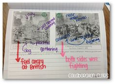 Collaboration Cuties: Point of View with Primary Sources and American Revolution Articles