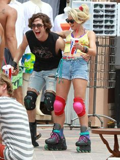 Julianne Hough and Diego Boneta film 'Rock of Ages' 1980s Fashion Trends, Rock Of Ages, Rocker Style, Julianne Hough, Fun At Work, European Fashion, Party Fashion, Beautiful People, Style Me