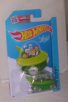 HOT WHEELS THE JETSONS CAPSULE CAR HW CITY 57/250 SCALE 1:64 MATTEL 13 MOC $1.99 #thejetsons #capsulecar #hotwheels