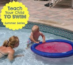 Teach Your Child to Swim Series; be your child's swim teacher with step-by-step instructions for infants-children. No swim lessons for Addie! I learned to swim without them and I'm pretty sure I can help her learn as well. Summer Activities, Learning Activities, Kids Learning, Teaching Kids, Swim Lessons, Summer Kids, Raising Kids, Future Baby, Swagg