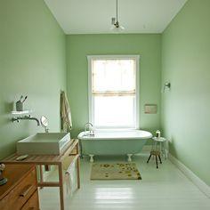 Verde no banheiro