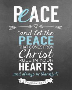 {Peace} Colossians 3:15 via Little House on the Circle