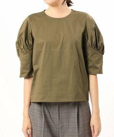 VERMEIL par iena(ヴェルメイユ パー イエナ)の「トリコットパフスリーブプルオーバー◆(Tシャツ/カットソー)」|詳細画像