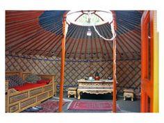 Authentic Mongolian Yurt. Gorgeous! Totally Boulder Tea House.