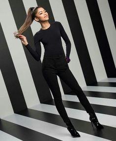 Zendaya. All black. Sleek and sophisticated