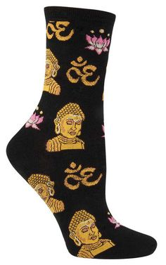 """We are not going in circles, we are going upwards. The path is a spiral; we have already climbed many steps.""  ― Hermann Hesse, Siddhartha  Climb those steps in these Siddhartha socks."