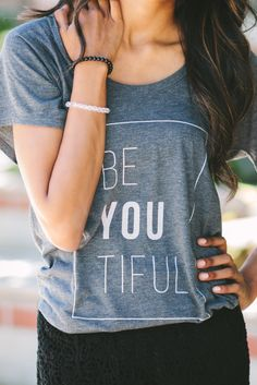 STILL AVAILABLE: be-YOU-tiful! Inspire beauty wherever you go with this cute #Sevenly shirt :) (Added bonus: It donates to a good cause!!)