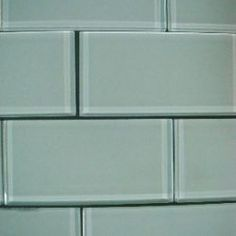 clear glass tile. tip I learnt from Jeff Lewis - paint the wall color on