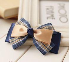 Handmade Knot Bow Hair Clip Cute Hair Bow by ShiningLifestyle Blue Hair Bows, Flower Hair Bows, Ribbon Hair Bows, Diy Hair Bows, Bow Hair Clips, Bow Clip, Boutique Hair Bows, Diy Headband, Girls Hair Accessories