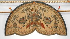 French Victorian textile/rugs valance/drape aubusson