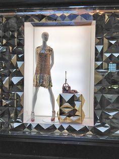 JUST CAVALLI Christmas windows, Milan visual merchandising
