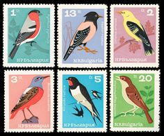 Bulgaria Birds Stamps