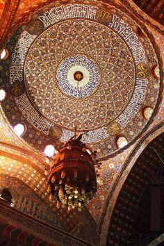 Dome Interior at Suleiman Pasha Mosque in Cairo, Egypt