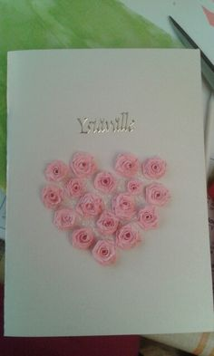 Heart of roses by quilling