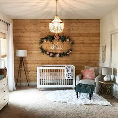 24 Charmingly Rustic Nursery Rooms 2019 Dreaming of a rustic retreat for your little one? Whatever your style these charmingly rustic nurseries are sure to inspire. The post 24 Charmingly Rustic Nursery Rooms 2019 appeared first on Nursery Diy. Baby Bedroom, Nursery Room, Kids Bedroom, Wood Wall Nursery, Accent Wall Nursery, Baby Girl Rooms, Baby Nursery Ideas For Boy, Simple Baby Nursery, Accent Walls