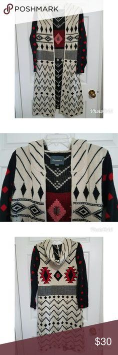 Lovemarks Long Hoodie Maxi Duster Cardigan Hoodie Lovemarks Long Hoodie Maxi Duster Cardigan Hoodie Sweater Jacket Medium Anthropologie Sweaters Cardigans