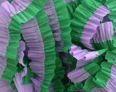 Lavender and Emerald Green Ruffled Streamer