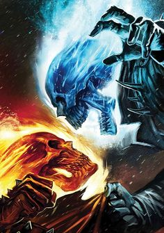 Ghost Rider: Blue vs Red