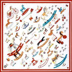 Hermès - Carré 'Raconte-moi le cheval' by Dimitri Rybaltchenko Hermes Necklace, Bandana Design, Cowgirl Bling, Scarf Design, Vintage Scarf, Hermes Scarves, Silk Scarves, Fashion Prints, Pattern Design