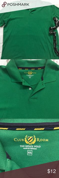 Charter Room Men's Green Polo Shirt sz. XXL Charter Room green Polo shirt . Men's size XXL. Has one pull on front(pictured) Charter Room Shirts Polos