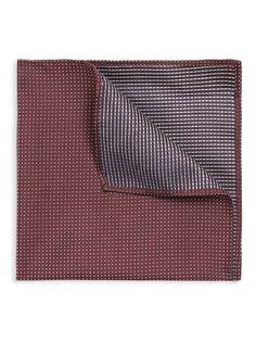 Micro pin dot pocket square   Merlot   Ben Sherman