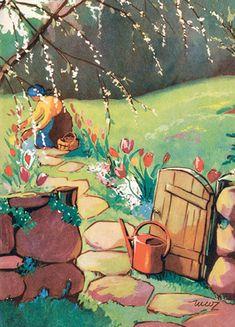 MARTTA WENDELIN   Osastot   Korttien Talo Spring Has Sprung, Children's Book Illustration, Spring Time, Finland, Martini, Childrens Books, Bloom, Postcards, Flowers