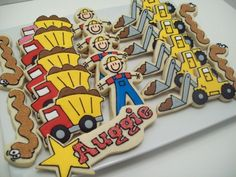 Trucks and construction cookies