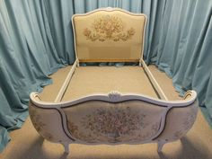To Have A Unique National Style Reupholstered In Laura Ashley Fabric The Best Vintage French Demi Corbeille Bed